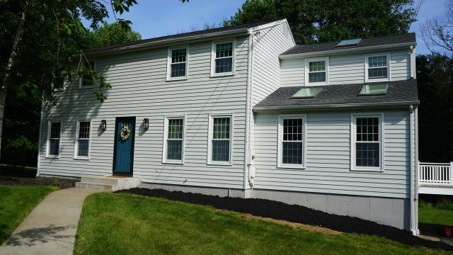 Freshly painted exterior of home